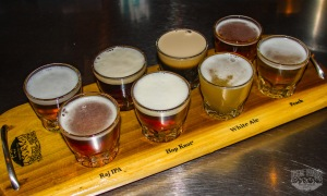 A taster flight from Four Peaks Brewing Company in Tempe, AZ